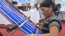 Brocade weaving network revives traditional handicraft