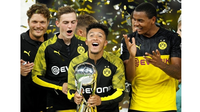 Sancho stars as Dortmund down toothless Bayern to win German Super Cup
