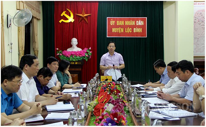 The Standing Committee of Provincial People's Council inspected in Loc Binh and Dinh Lap