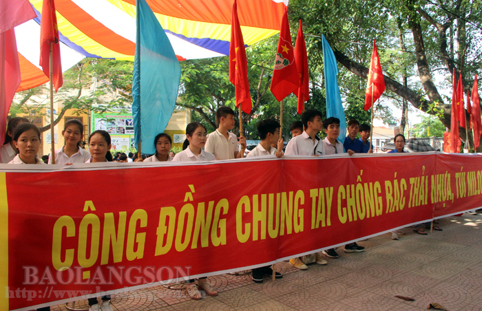 Lang Son province responds to national campaign on plastic waste prevention