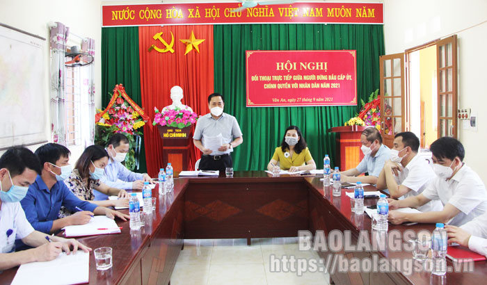Chairman of the Provincial People's Committee inspects the prevention and control of COVID-19 in Chi Lang district