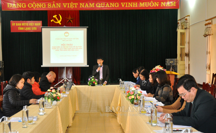 Lang Son VFF Committee gives ideas on province's draft tourism development scheme