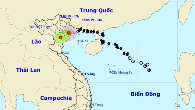 Storm Wipha weakens, brings heavy rains to North and North Central Vietnam