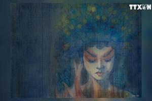 越南年轻画家努力恢复传统丝绸画艺术