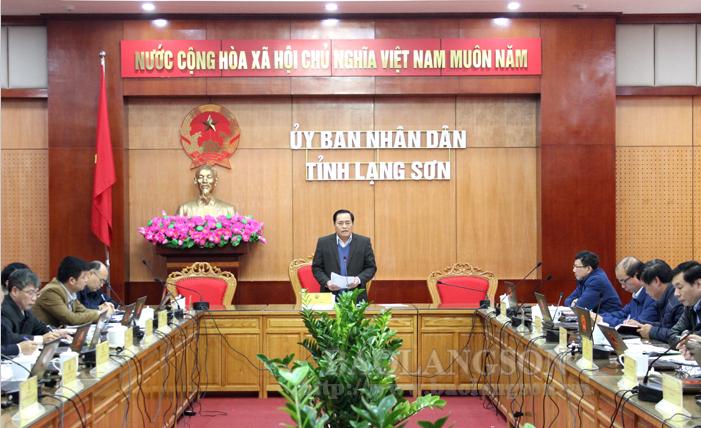 谅山省人民委员会召开12月份征地拆迁工作专项会议