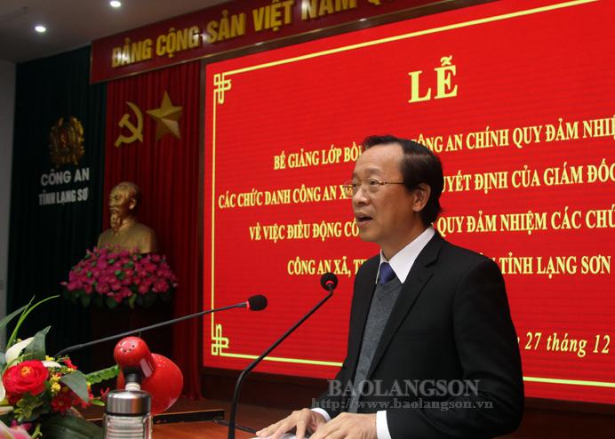 谅山省派遣130名正规公安人员担任乡级公安职务