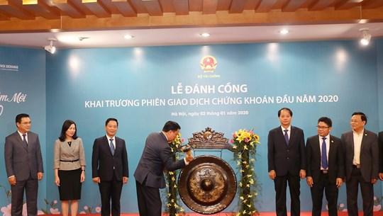 越南证券交易所举行2020年开市敲锣仪式