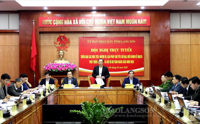 谅山省开展2020年经济社会发展和预算计划