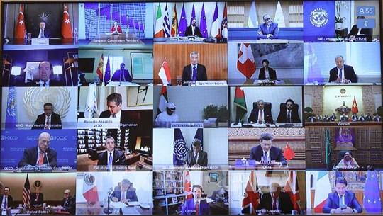 二十国集团峰会历史上首次视频峰会开幕