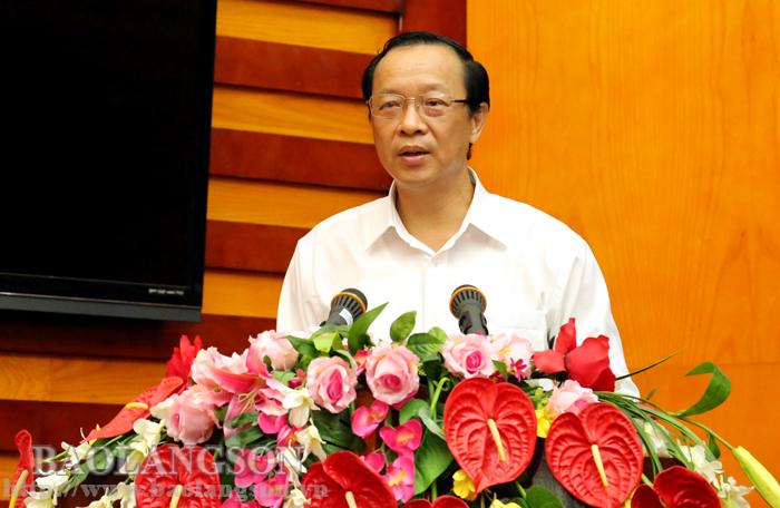 谅山省人民委员会举行政府与企业对话会议