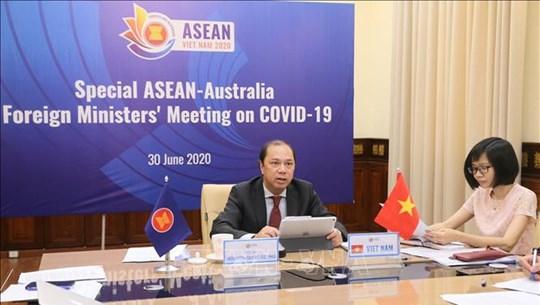 2020东盟轮值主席年:东盟-澳大利亚抗击新冠肺炎疫情部长特别会议以视频方式召开