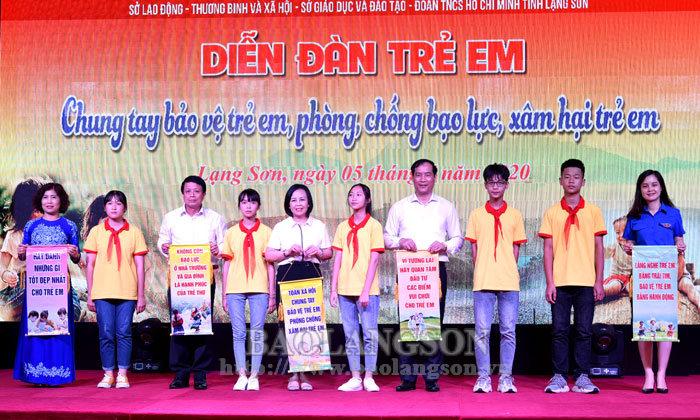 省人民议会,人民委员会领导出席儿童论坛