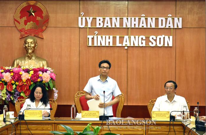 越南政府副总理武德儋莅临谅山省调研
