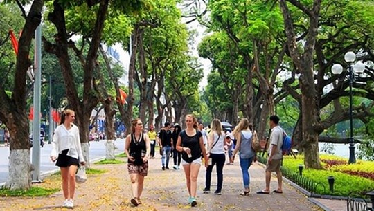 河内市接待外国游客人数突破470万人次