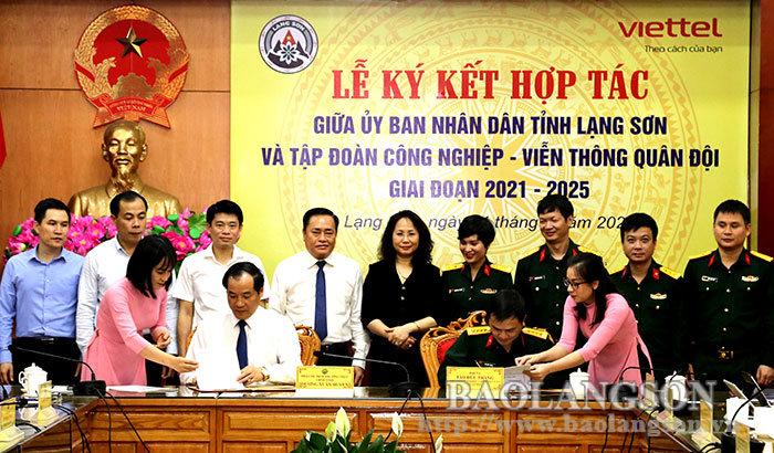 谅山省人民委员会与军事电信产业集团签署了合作协议