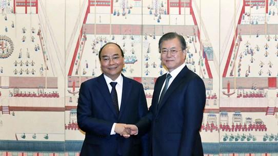 组图:政府总理阮春福对韩国进行正式访问