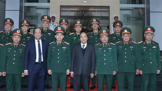 越南政府总理阮春福检查第二总局战备工作