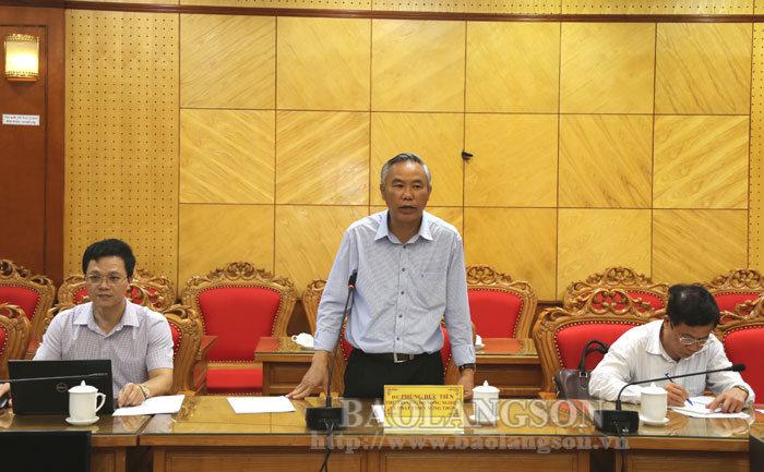 农业与农村发展部副部长与谅山省人民委员会领导进行了工作会议